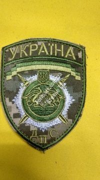 Шеврон камуфлированный ДПС Украина